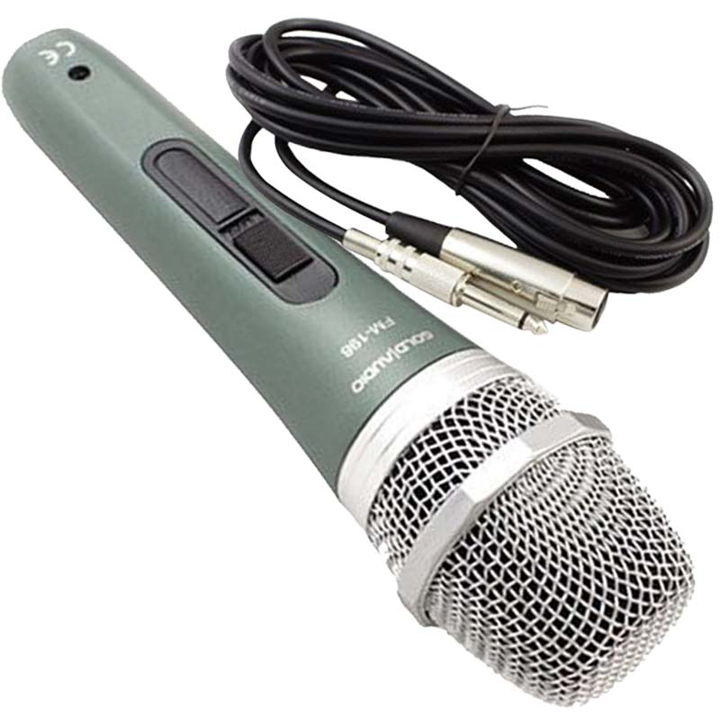 MICROPHONE GOLD AUDIO FM-198B М�КРОФОН FM-198B Д�НАМ�ЧЕН,С КАБЕЛ