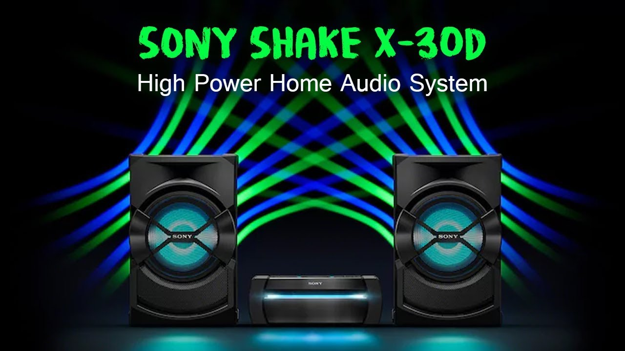 TONKOLONA SONY SHAKE-X30D PARTY SYSTEM WITH DVD TONKOLONI SONY SHAKE-X30D