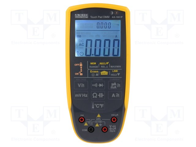 MULTIMER AX-160IP MULTIMER AX-160IP  Цифров мултиметър; LCD (6000), двоен, подсветка; 3x/s; True RMS