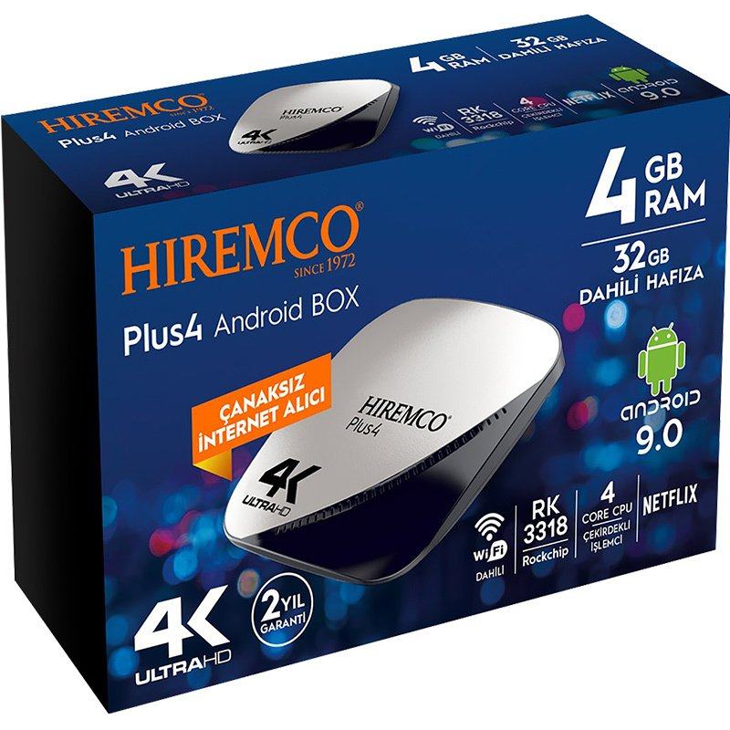 TV BOX HIREMCO PLUS 4 ULTRA HD TV BOX ANDROID HIREMCO