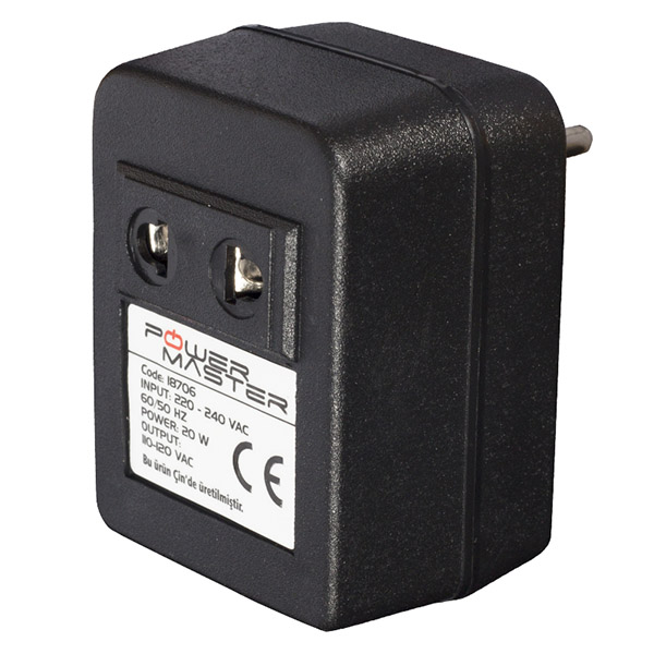 ADAPTER 220V/110V 20VA AC/AC АДАПТЕР 220V/110V 20VA AC/AC