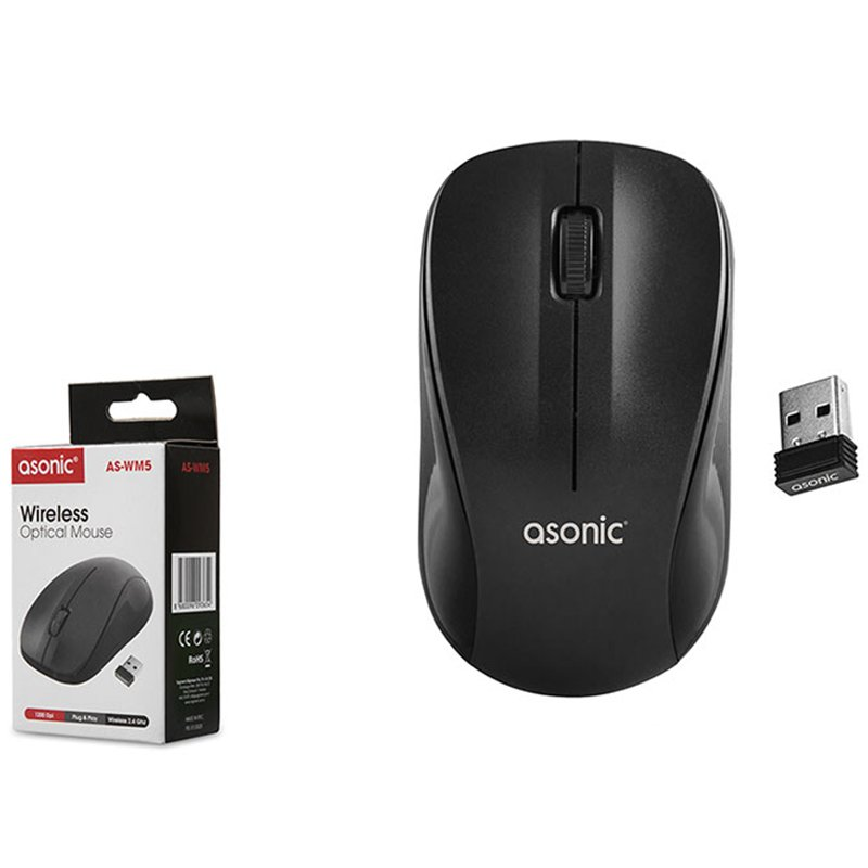 MOUSE OPTICAL ASONIC AS-WM5 MOUSE OPTICAL ASONIC AS-WM5